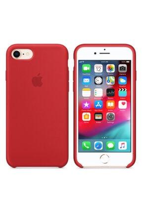 Joyroom Apple Iphone 6 Plus Logolu Silikon Kılıf Iç Yüzeyi Kadife Kırmızı