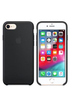 Joyroom Apple Iphone 6 Plus Logolu Silikon Kılıf Iç Yüzeyi Kadife Siyah