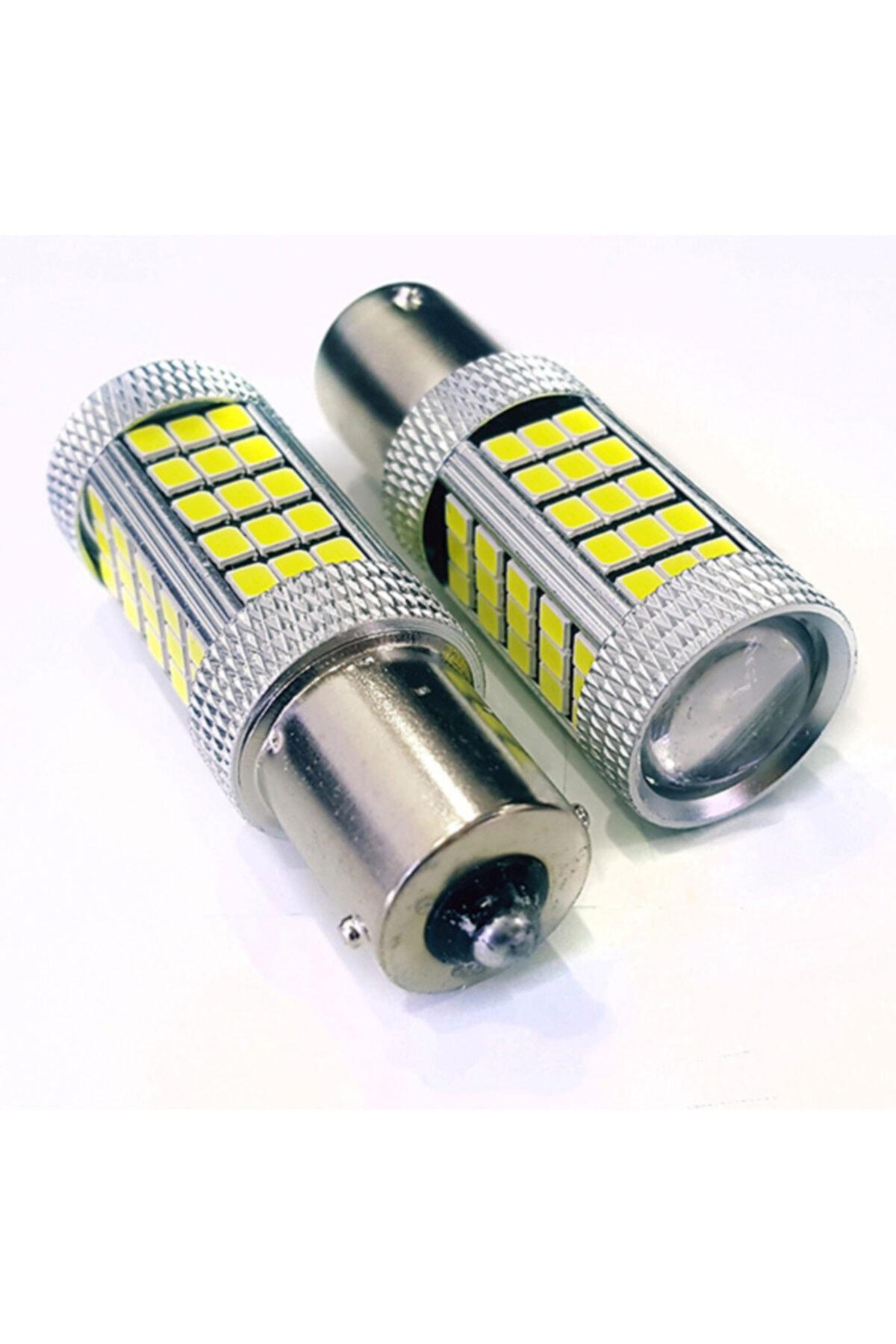 FEMEX Premium P21w-1156-9w- Tek Duy Dipli Led Ampul Beyaz Mercekli 2