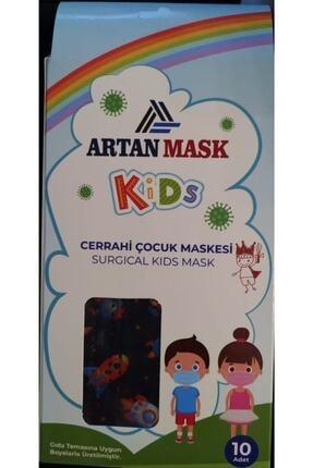 Att 50 Adet Erkek Çocuk Maske 3 Katlı Telli Ultrasonik Cerrahi Yüz Maskesi