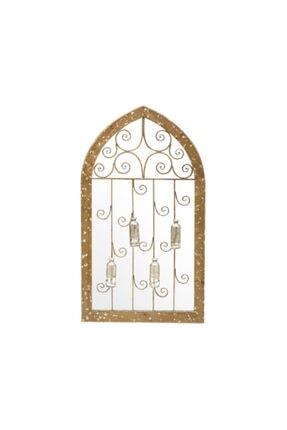 Warm Design Çiçeklik Dekorlu Köknar Duvar Aynası