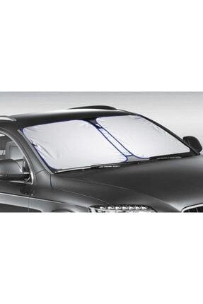 OLUNCA Tüm Araçlara Uygun Oto Ön Cam Güneşliği Oto Güneş Gözlüğü - Siyah - Black