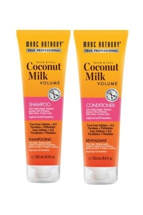 MARC ANTHONY Coconut Milk Volume Şampuan 250 Ml + Saç Kremi 250 Ml