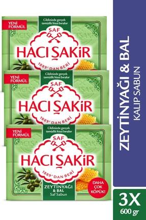 Hacı Şakir Zeytinyağı&bal Kalıp Sabun 4x150gr X 3 Adet
