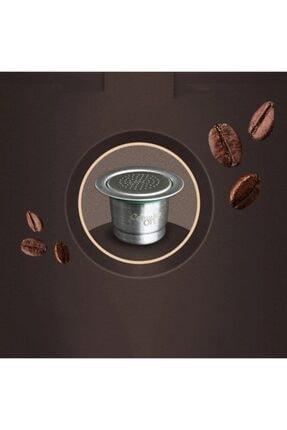 Nespresso Capsulone Paslanmaz Çelik Tekrar Doldurulabilir Kahve Kapsülü+100gr Kahve