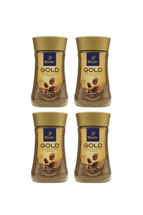 Tchibo Gold Selection Granürlü Kahve Cam Kavanoz 100 Gr 4'lu Set