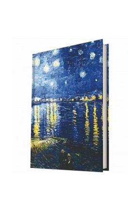 DEFFTER Art Of World / Van Gogh Starry Night Sert Kapak 14x20 Çizgili 96 Sayfa Defter 64356-1