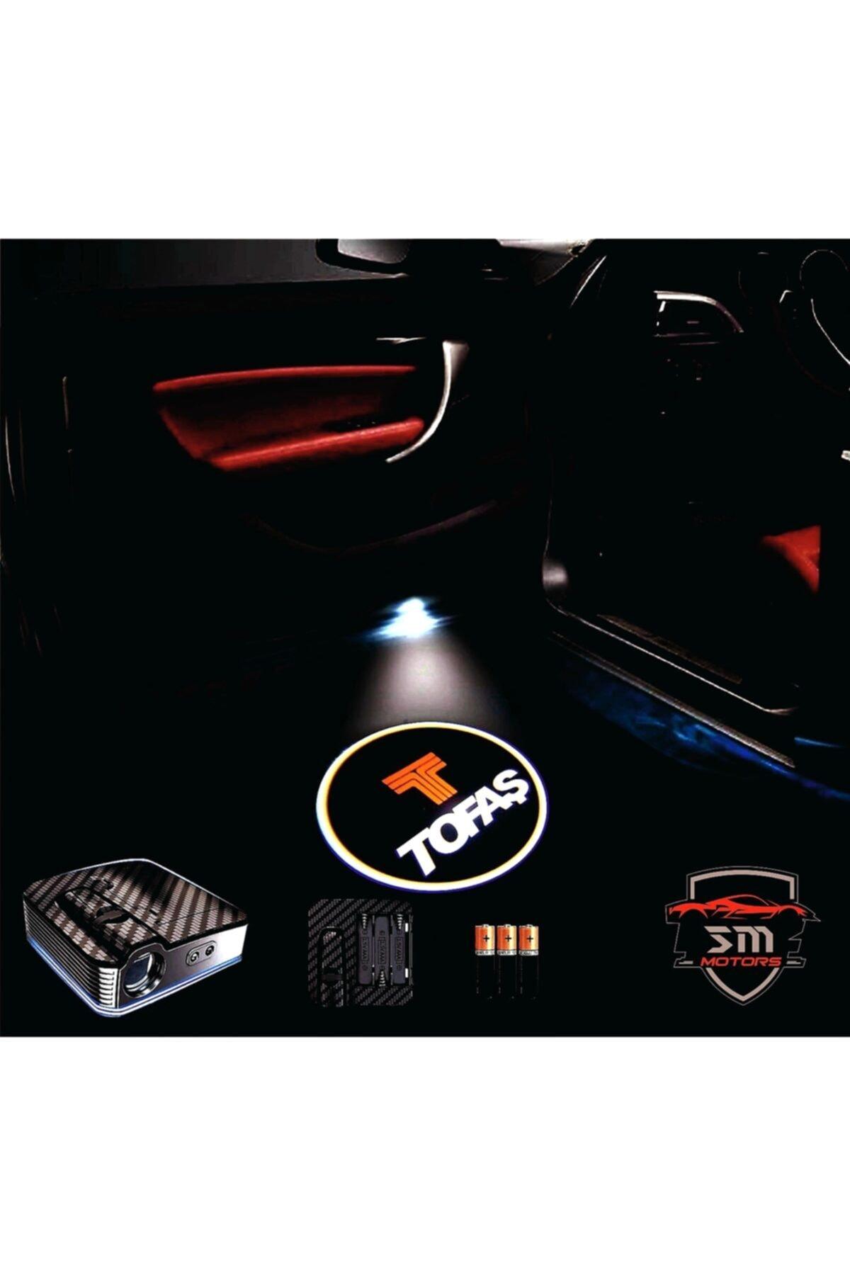 StrongMotors Tofaş Araçlar Için Pilli Yapıştırmalı Kapı Altı Led Logo 1