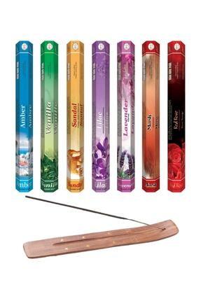 AURA 140 Adet Tütsü (amber, Vanilya, Sandal Ağacı, Leylak, Lavanta, Musk, Kırmızı Gül Tütsü Kayığı