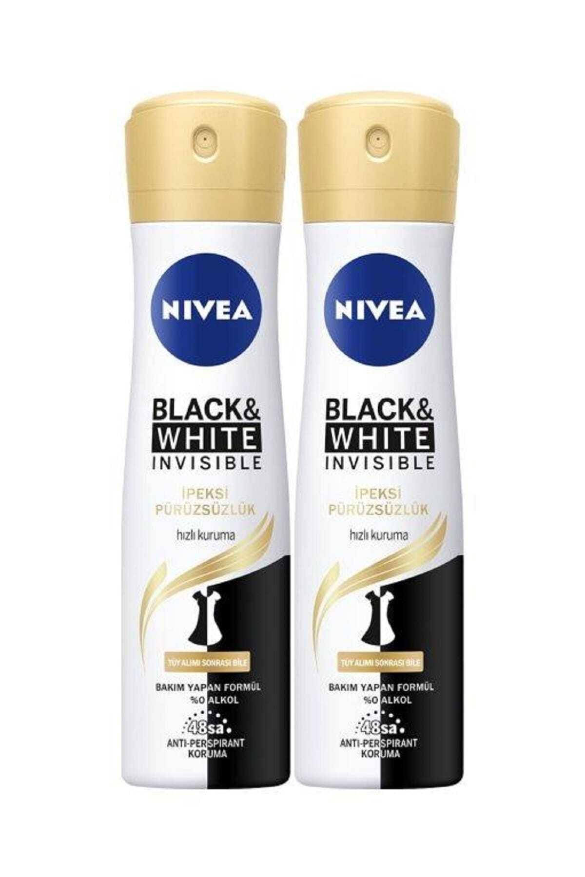 Nivea Black & White Ipeksi Pürüzsüzlük Sprey 150 Ml X 2 1