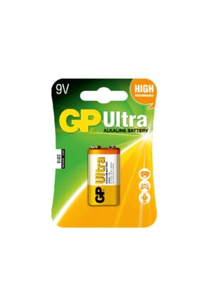İntec Gp Ultra Kalın Alkalin 9v Yassı Kare Pil 1604au