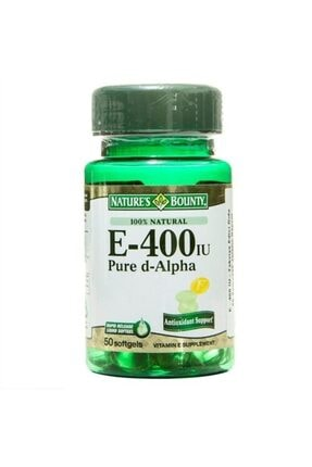 Nature's Bounty Vitamin E-400 Iu 50 Softjel (%100 Natural)
