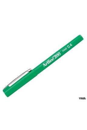 artline 200 Fineliner 0.4mm Ince Uçlu Yazı Ve Çizim Kalemi Yeşil