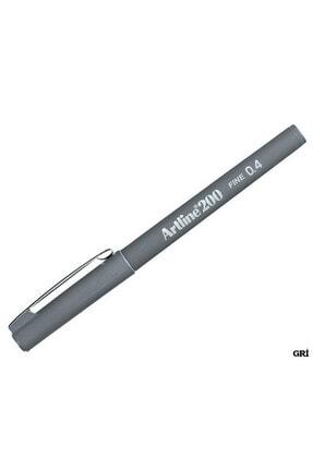 artline 200 Fineliner 0.4mm Ince Uçlu Yazı Ve Çizim Kalemi Gri