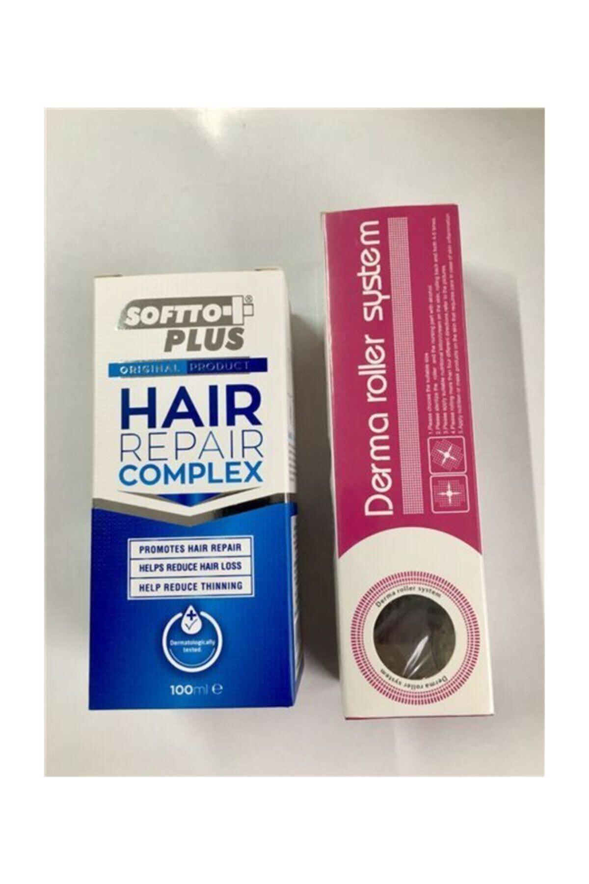 Softo Plus Softto Plus Mavi Su Saç Için Onarıcı Kompleks +540 Iğneli Titanyum Derma Roller 0.5 Mm. Set 1