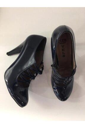 Podyum Kadın Lacivert Topuklu Klasik Ayakkabı 330