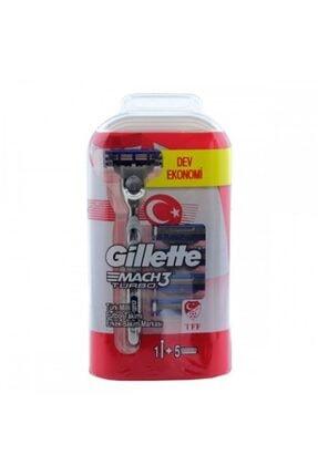 Gillette Mach3 Turbo Tıraş Makinesi Ve  5 Yedek Bıçak
