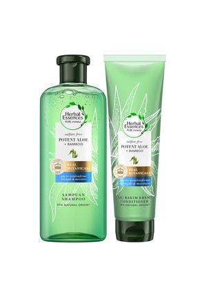 Herbal Essences Sülfatsız Aloe 380 Ml Bambu+ 275 Ml Saç Kremi