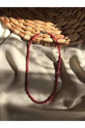 Handcraft Design Kadın Kırmızı Renk Boncuk Kolye