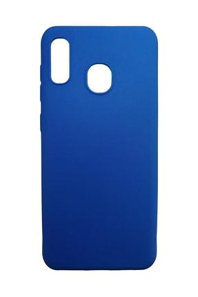 Müzeyyen Samsung Galaxy A30 Silikon Mavi Esnek Silikon Kılıfı