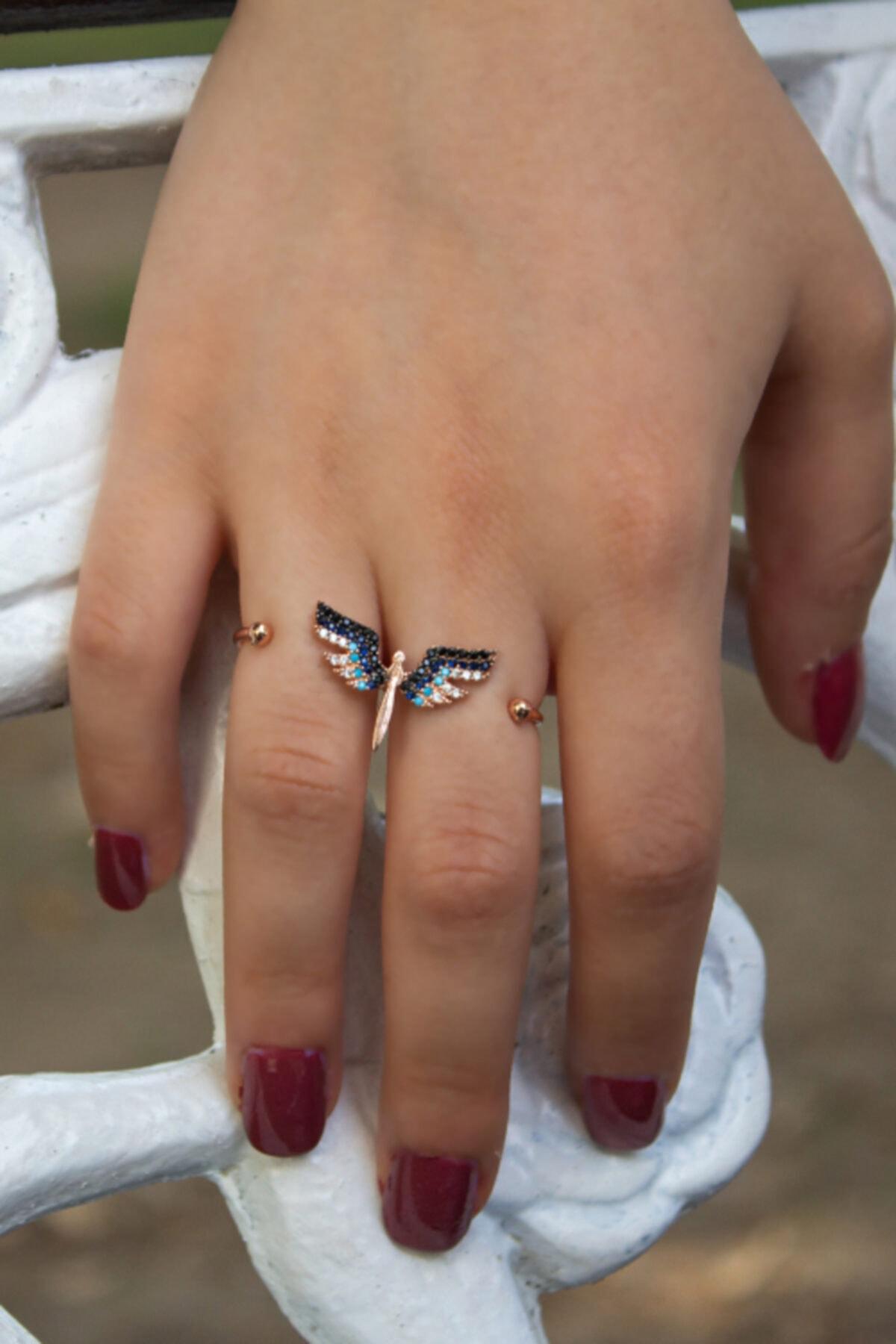 Else Silver 925 Ayar Gümüş Mikail Meleği Yüzük 1