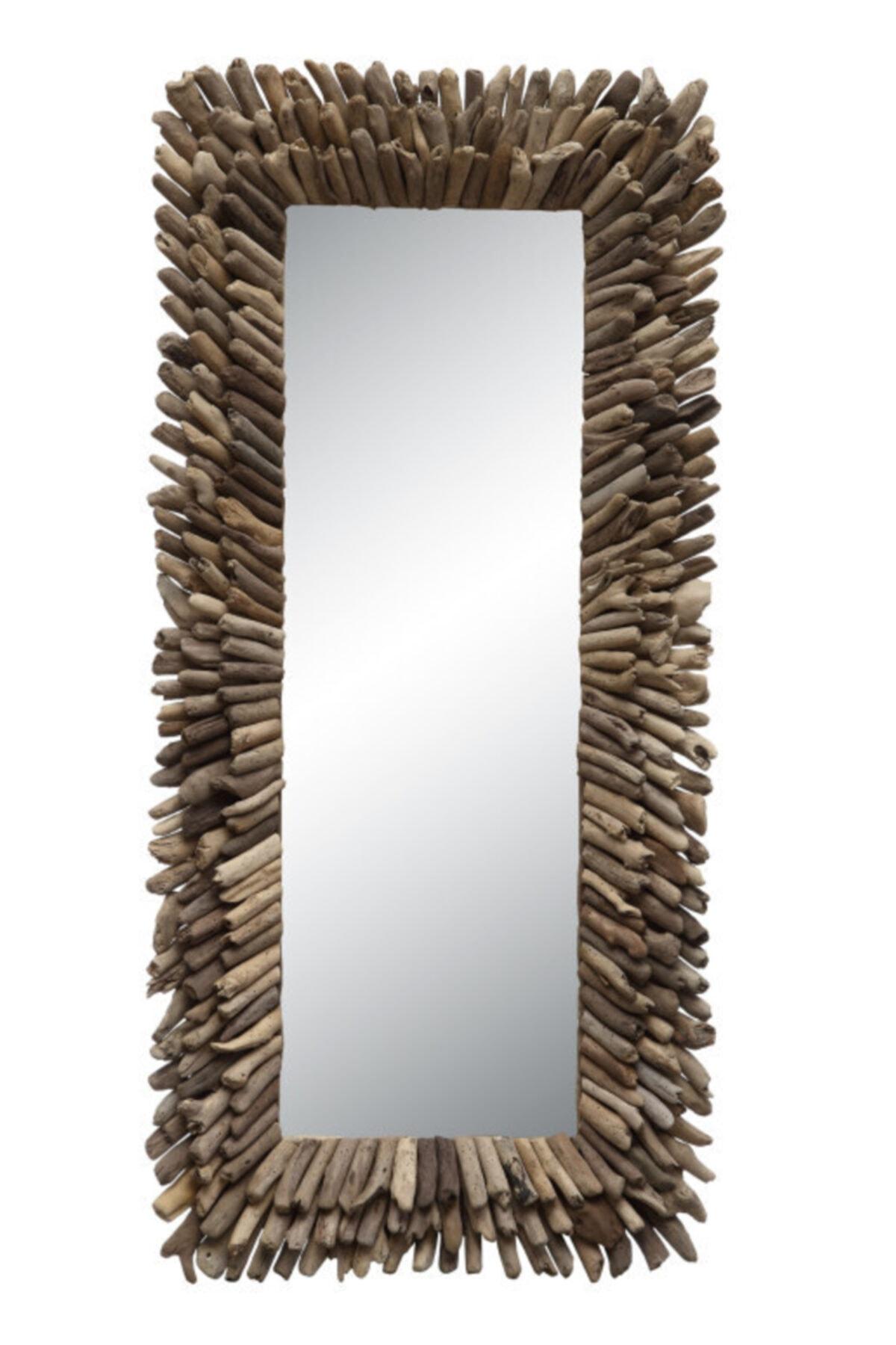 Warm Design Odun Parçacıkları Ayna 1