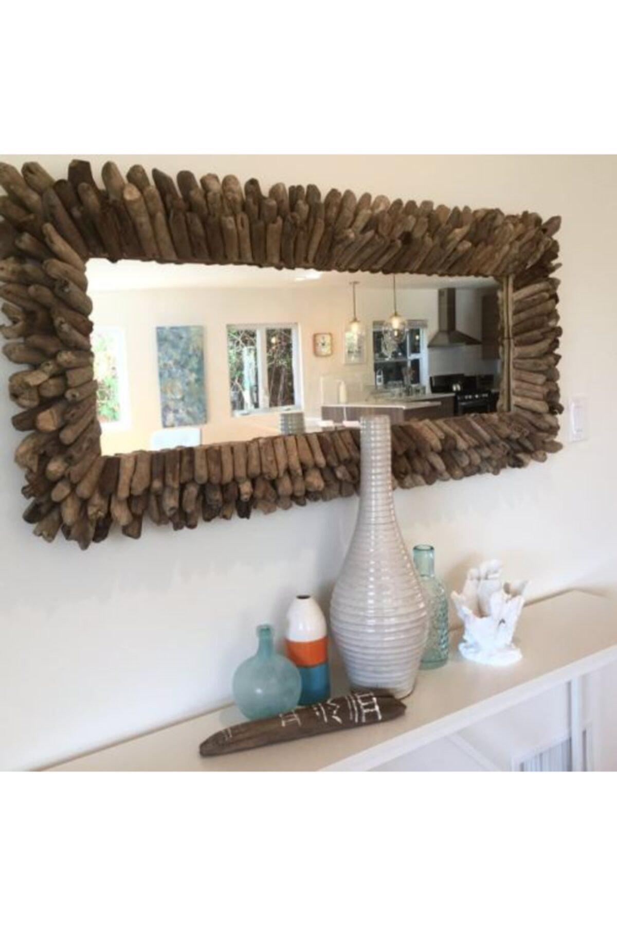 Warm Design Odun Parçacıkları Ayna 2