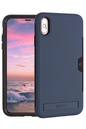 Apple Iphone Xs Max 6.5 Kılıf Roar Sert Silikon Kartlıklı Standlı Roaw