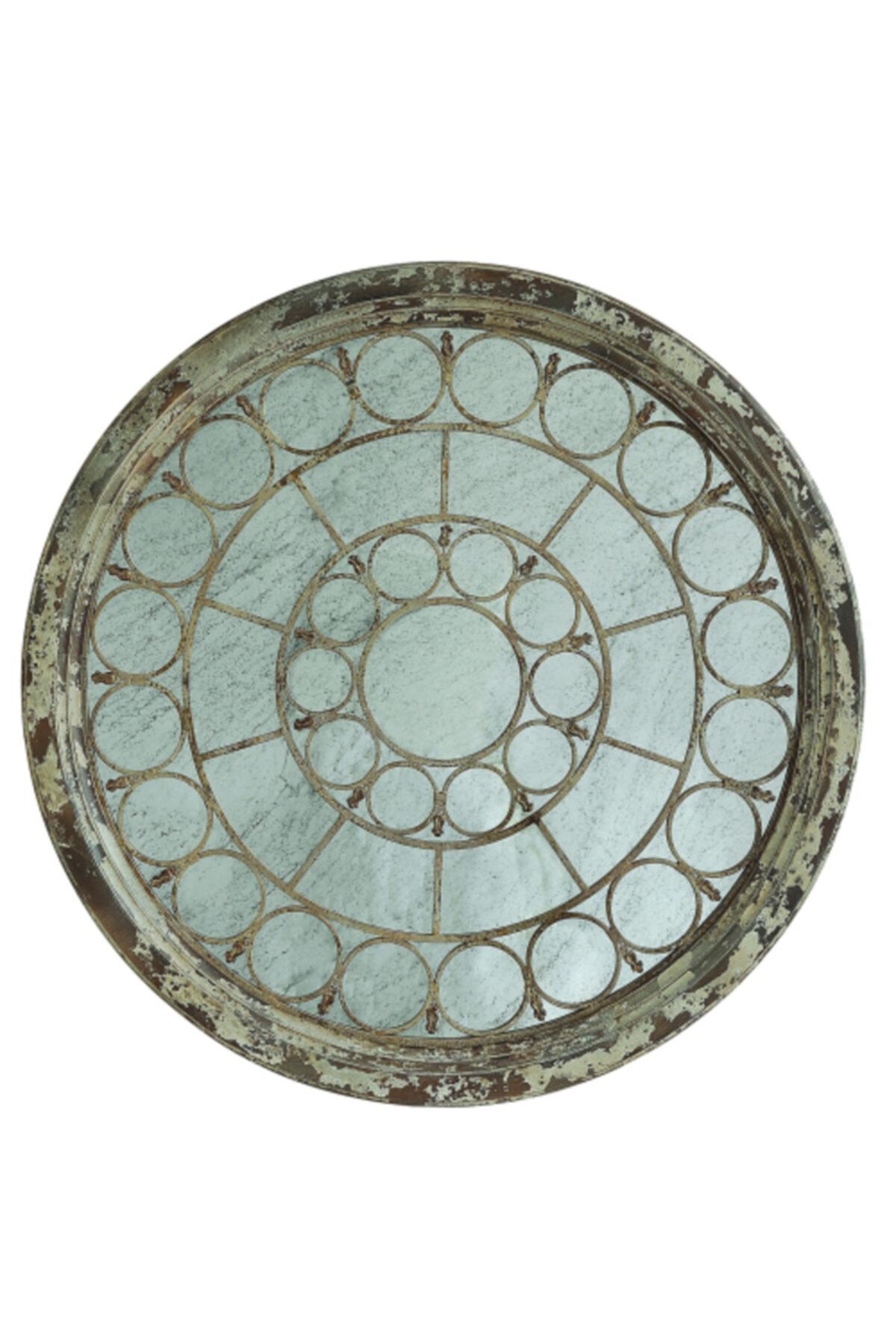 Warm Design Ahşap Çerçeveli Antik Ayna 1