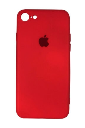 Joyroom Apple Iphone 7-8 Logolu Silikon Lansman Kılıf Kırmızı