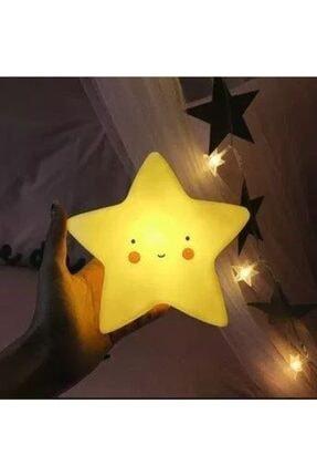 Doğuş Dogusdeco Sarı Yıldız Işıklı Silikon Gece Lambası Hediyelik