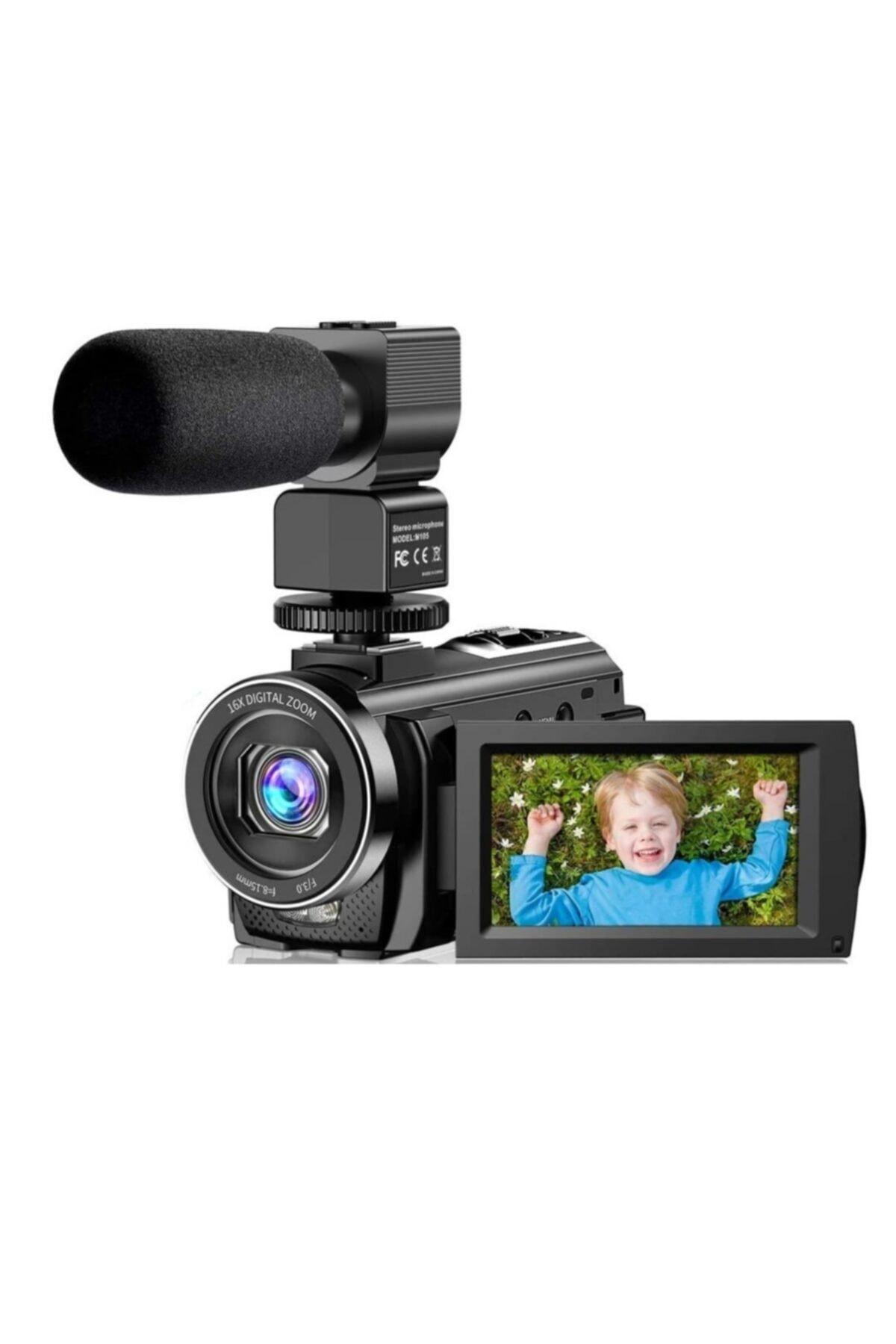 "Actinica Actinow Vlog Kamera 1080p 30fps 24mp 16x Dijital Zoom 3 ""lcd 270 Derece 1"