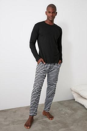 TRENDYOL MAN Siyah Ekoseli Pijama Takımı THMAW21PT0353