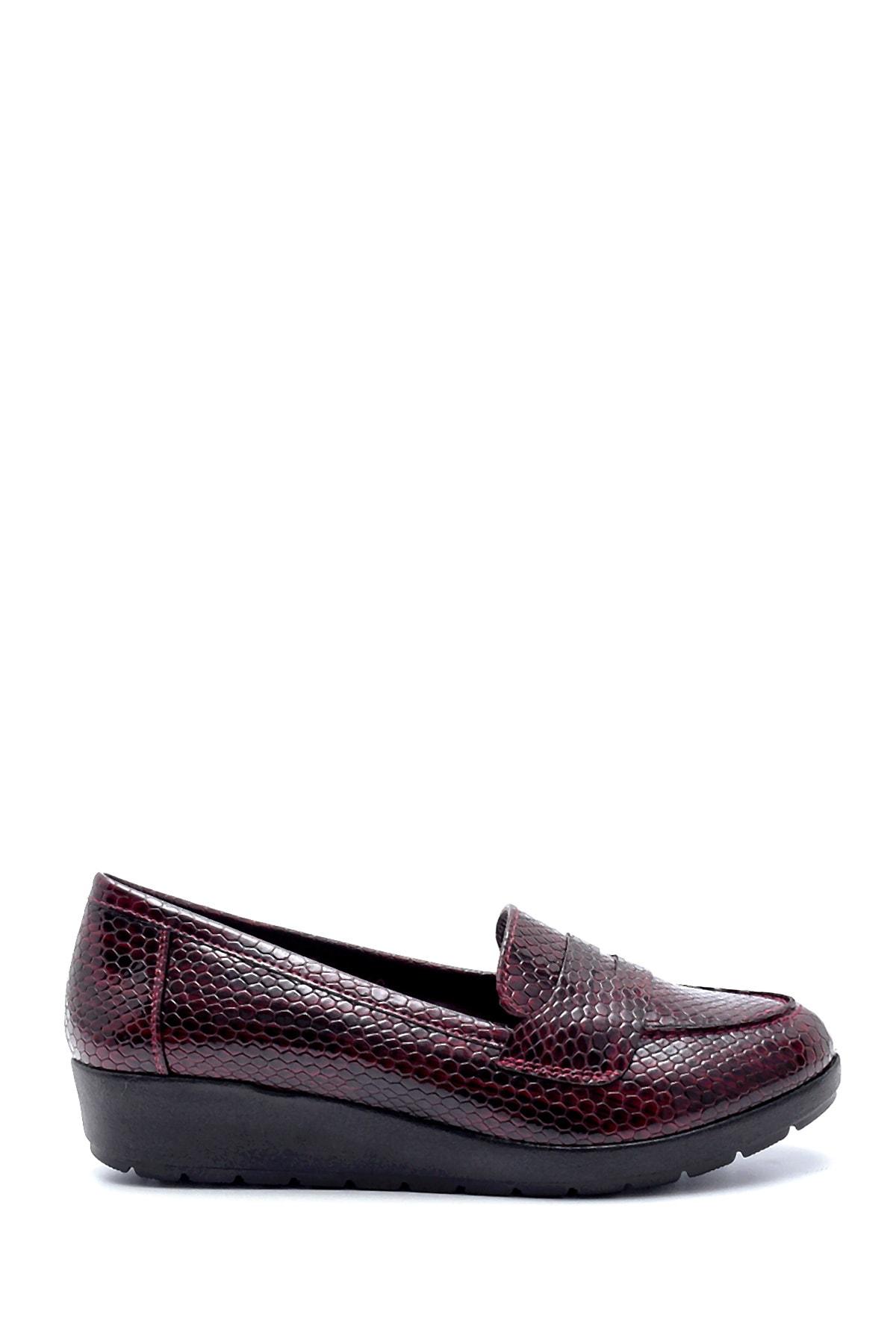 Derimod Kadın Bordo Desenli Ayakkabı 1