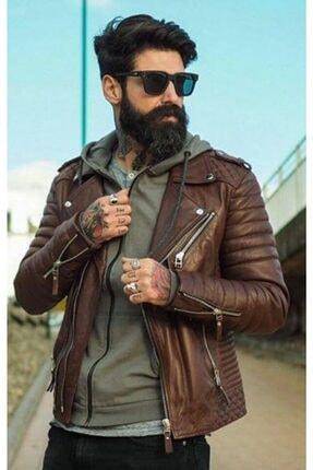 Derimont's Demar Erkek Kahverengi Deri Ceket