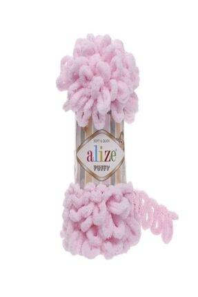 Alize 5 Adet Puffy El Örgü Ipliği 31 Bebe Pembe