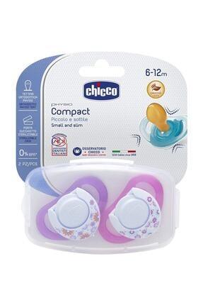 Chicco Physio Compact Kauçuk 2'li Emzik Kız 6-12 Ay