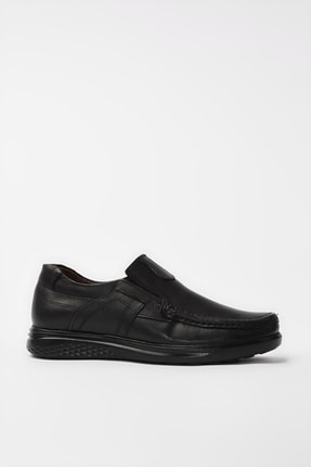 Yaya  by Hotiç Hakiki Deri Siyah Erkek Loafer Ayakkabı 02AYY194980A100