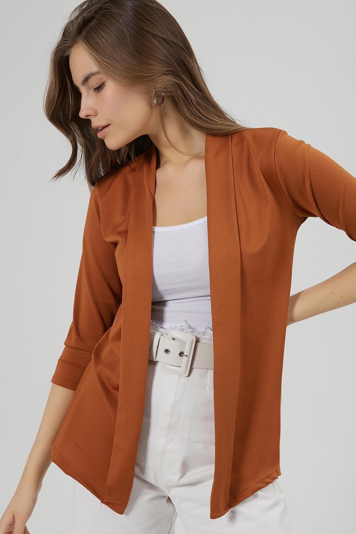 Y-London Kadın Taba Şal Yaka Blazer Ceket Y20W169-1185 2