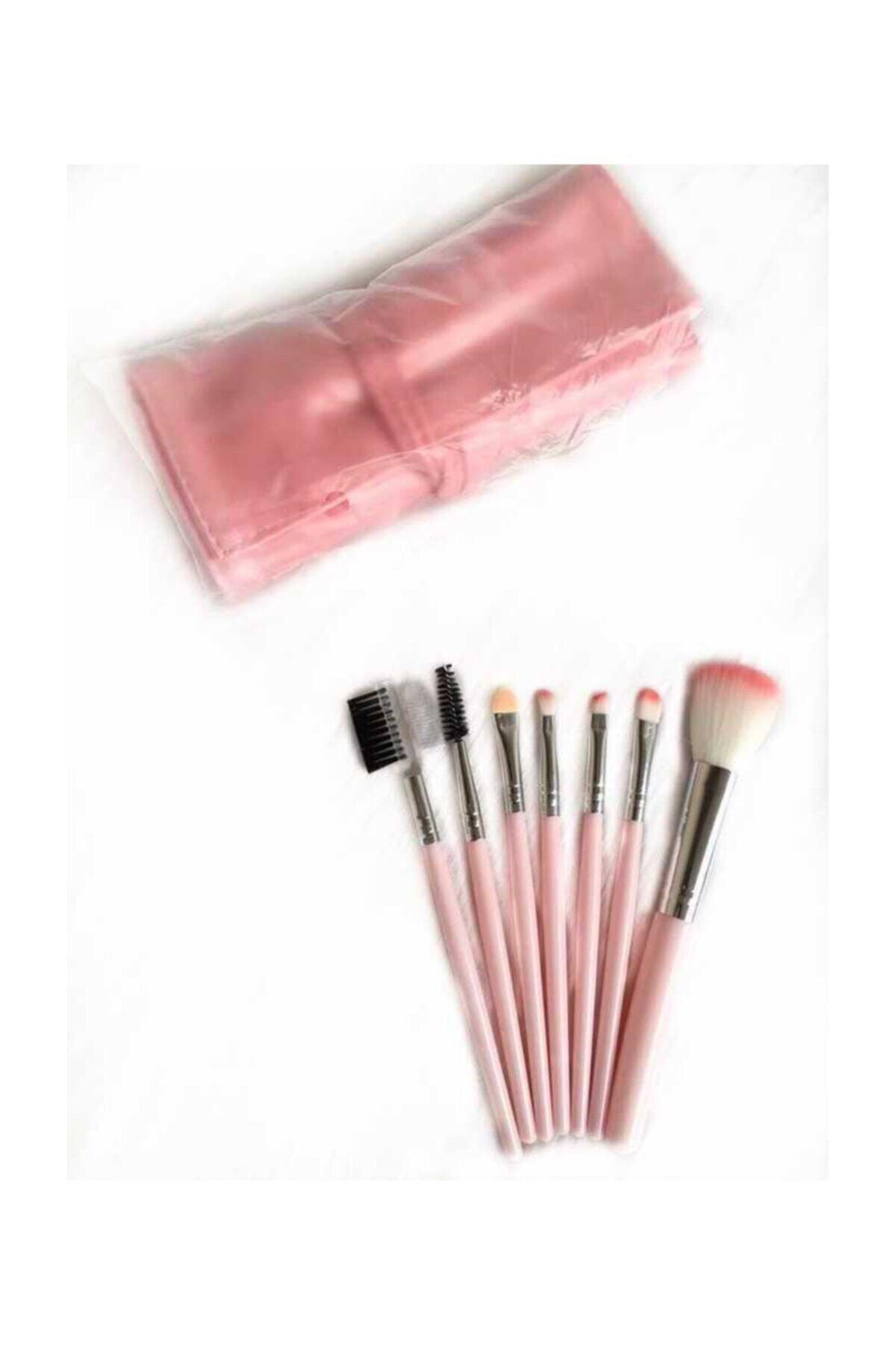 Makeuptime 7'li Deri Çantalı Fırça Seti 1