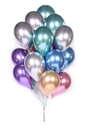 Kullan At Market Metalik Krom Balon Karışık Renkli 40cm (16 Inch) 25li