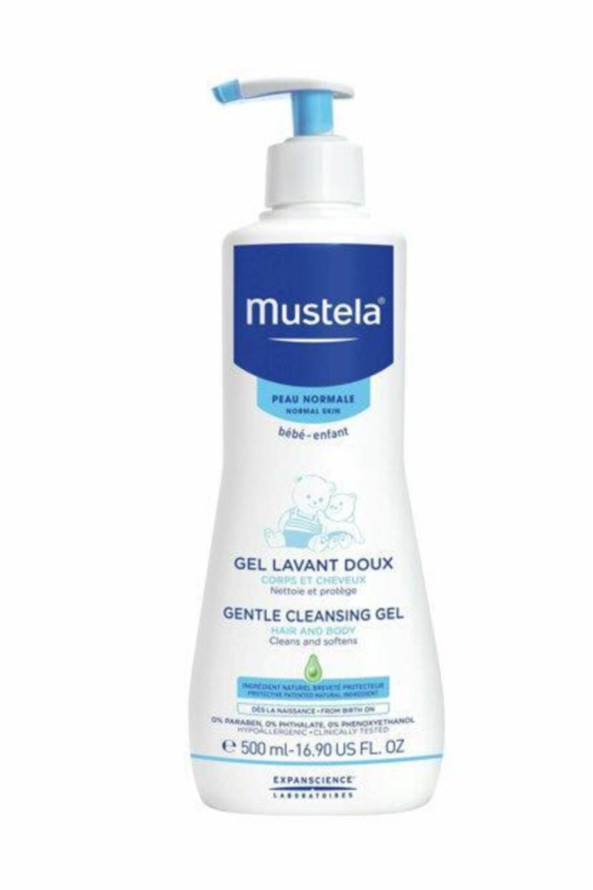 Mustela Gentle Cleansing (Dermo Cleansing) Yenidoğan Saç Vücut Şampuanı 500 Ml 2