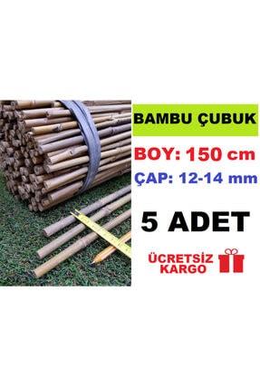 Ekodoğa Bambu Çubuk 150 Cm 5 Adet 12-14 Mm Bambu Çubuğu Bambu Çubukları Bitki Destek Çubuğu