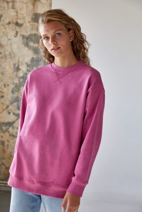 Urban Muse Kadın Pembe Sweatshirt