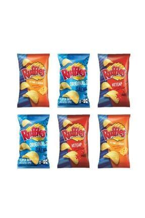 Ruffles Ketçap-peynir,soğan-sade Karışık Grup Cips 98 Gr X 6 Ad