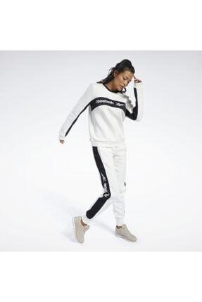 Reebok Kadın Lacivert Classics Linear Fleece Crew Sweatshirt