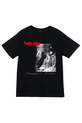 fame-stoned Unisex Siyah Rotting Christ Baskılı T-shirt