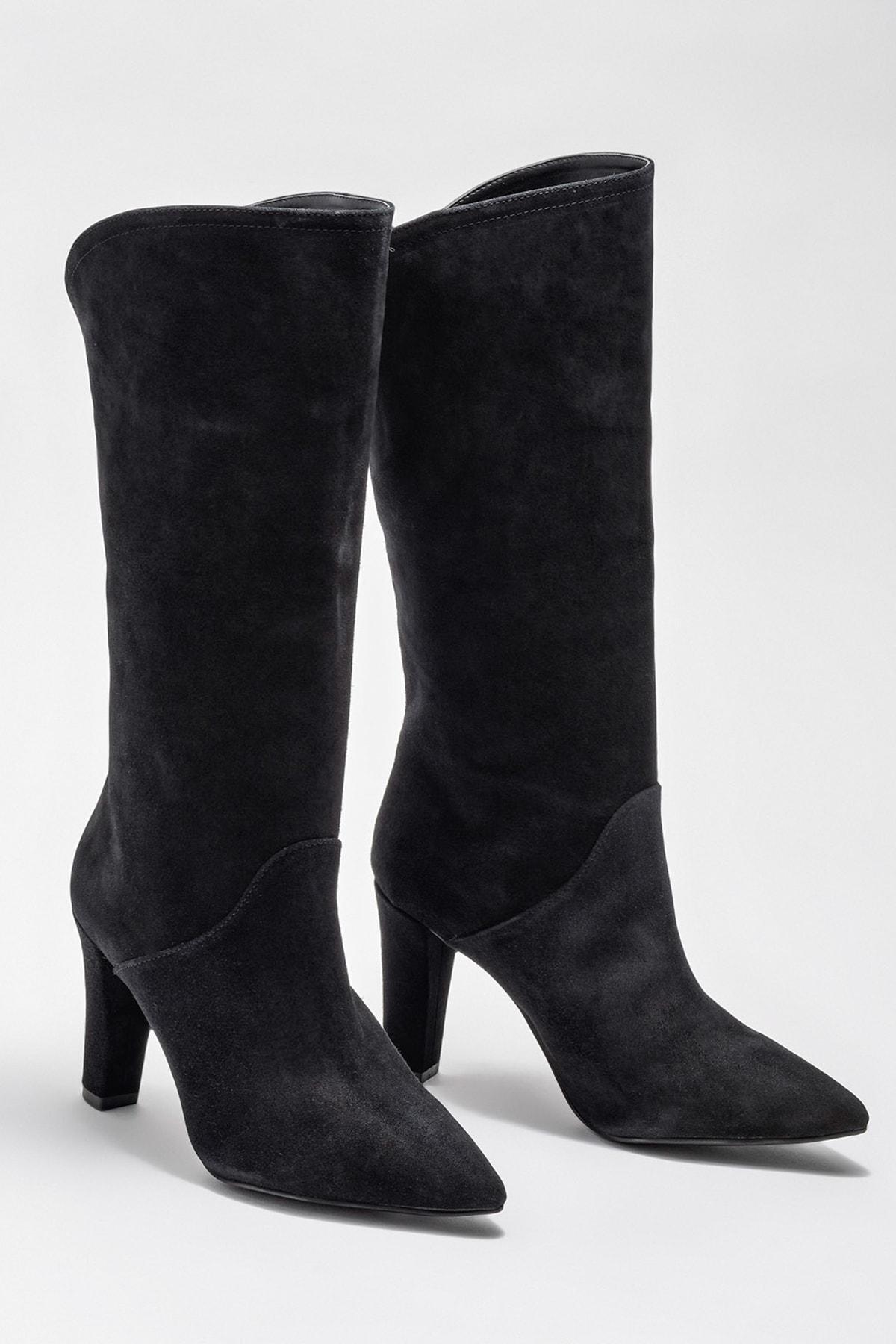 Elle Shoes Kadın Jorayn Sıyah Çizme 20KDS55212 2