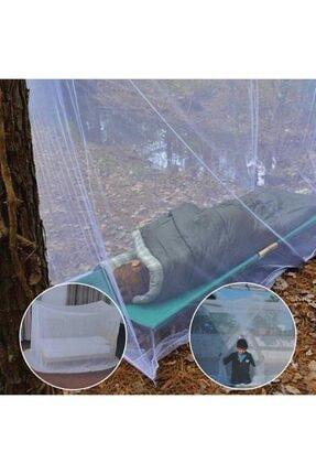 DecoTown Kamp Balkon Bebek Park Yatak Beşik Çift Kişilik Cibinlik Tülü Pileli Hazır Çantalı Pratik Sineklik