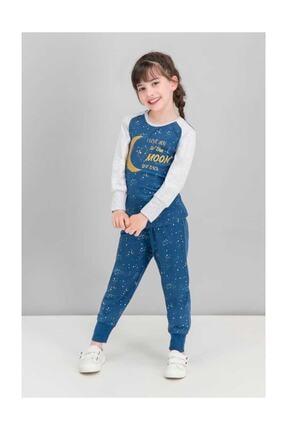 ROLY POLY Love Moon Lacivert Kız Çocuk Pijama Takımı